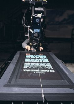 Tournage du texte dintroduction de Star Wars Episode V : LEmpire contre-attaque