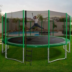 If you are searching for the ultimate family trampoline, then the Oz Trampolines 16 foot trampoline has you covered. Our largest trampoline; this beauty has superior bounce and durability, weight capacity and is big enough for the whole family to enjoy. Large Trampoline, Trampolines, Searching, Things That Bounce, Big, Cover, Outdoor