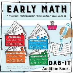 Dab-it+Early+Math+Booklets++from+RFTS+Preschool-Kindergarten+on+TeachersNotebook.com+-++(34+pages)++-+Dab-it+Early+Math+Booklets+ 34+pages A+set+of+four+counting+booklets.+Student+counts+the+number+of+blocks+in+the+box+and+dabs+the+correct+sum.