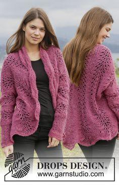 "Let's Dance - Gebreid DROPS vest met golvenpatroon van ""Brushed Alpaca Silk"". Maat: XS - XXL. - Free pattern by DROPS Design"