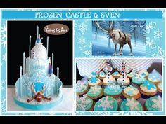 (1) Frozen Castle and Sven Cake, Frozen Cake by Baking Big Ideas - YouTube Royal Cupcakes, Sven Frozen, Frozen Castle, Birthday Cake, Baking, Desserts, Youtube, Food, Ideas