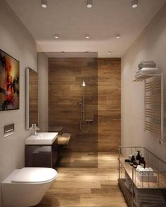The other small bathroom design ideas are buoyant and revolutionary, rethinking what we expect a bathroom design should see like. design 10 Small Bathroom Ideas for Minimalist Houses Home, Modern Bathroom Design, Bathroom Interior, Bathroom Renovations, Amazing Bathrooms, Bathroom Colors, Best Bathroom Colors, Bathroom Design Small, Small Bathroom Renovations