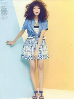 Sure magazine featured the #AmericanApparel Denim Short Sleeve Button-Up, Korea, April 2013.
