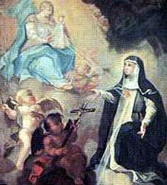 Feast Day-June 20: Bl. Margaret Ebner was a Dominican nun at Maria-Medingen, Germany convent in 1306. Dangerously ill from 1312 -1322 during which time she was sent home to recover, and during which she began receiving revelations, and prophecies. She was the first  beatification of John Paul's pontificate.... ~ Soul Candy (Image:detail from a painting of Blessed Margaret of Ebner receiving one of her visions, artist unknown)
