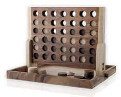 "A Beautiful ""four In A Row"" Wood Game"