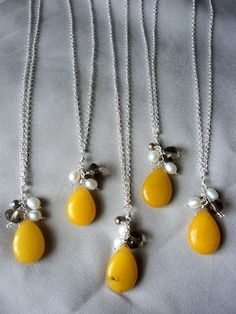 Bridesmaide Necklaces?? Is the Yellow too much for the dress? @Mykl Ruiz @Sky* @Monica Bustamante @Tracy Lenahan