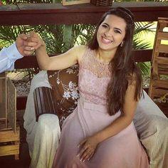 Vestido de Madrinha Rosê...linda Rafaela #madrinha #altacostura #hautecouture #rose #rosa #costura #casamento #luciastartare #bridal #vestidosdefesta #sarta