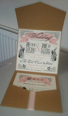 ALICE IN WONDERLAND Wedding Invitation by RLAWeddingDesigns