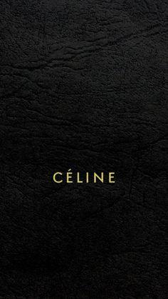 セリーヌ/キラキラロゴブラックレザー iPhone壁紙 Wallpaper Backgrounds iPhone6/6S and Plus  CÉLINE