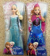 RARE  NEW Disney Frozen Sparkle Princess Elsa And Anna Doll 2 Dolls cakepins.com