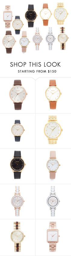 """watches collection"" by monica022 ❤ liked on Polyvore featuring Nixon, Kate Spade, DKNY, Michael Kors and vintage"