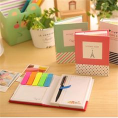 Sticker Bookmark Notepad Post Marker It Memo Flags Sticky Notes Book With Pen