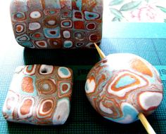 Averilpam Design: Klimt Cane - Polymer Clay