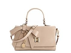 Melie Bianco Bow Turn Lock Satchel