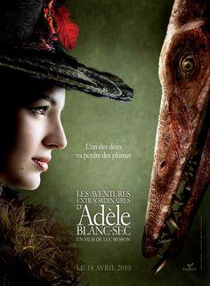The Extraordinary Adventures of Adèle Blanc-Sec (2010) - beautiful movie poster.