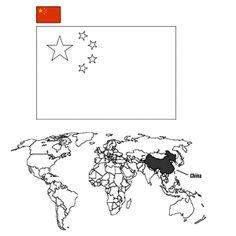 Landen en vlaggen: China