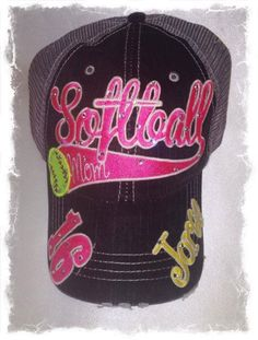 36a400c9488 Custom Glittery Bling Hats!  personalized  custom  monogram  hats  cheer   allstar  dance  gift  camp  team  baseball  football  soccer  mom   fastpitch   ...