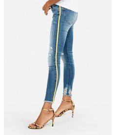 881259fb97f Mid Rise Side Stripe Stretch Ankle Jean Leggings, Women's Size:18 Business Casual  Jeans