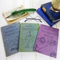 PRE-ORDER Magic Notebooks - Set of Three Spells, Potions, Magical A5 Books - Harry Potter Gift - Witches & Wizards - School Stationery