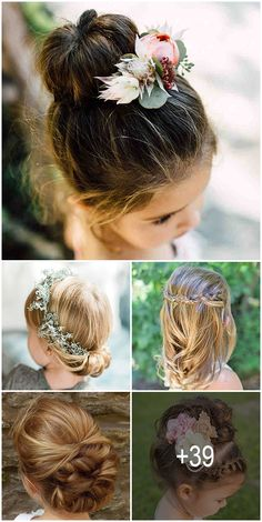 Hairstyle For Flower Girl Short Hair bautiful 39 Cute Flower Girl Hairstyles Update Flower Girl Updo, Flower Girl Hairstyles, Little Girl Hairstyles, Diy Hairstyles, Wedding Hairstyles, Girl Hair Dos, Girl Short Hair, Short Hair Images, Short Hair Styles