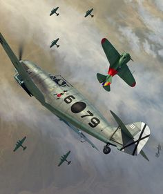 Messerschmitt Bf 109D-1 Werner Mölders (Legión Cóndor) vs Polikarpov I-16 Rata, Spanish Civil War, 1938. Art by Jerry Boucher