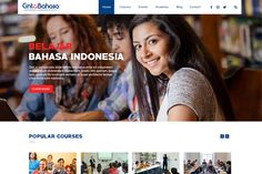 Language Course Web Design Free PSD | We Love Free PSD