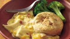 Solve the midweek dinner dilemma with this cheesy chicken bake made with Bisquick® mix and just five other ingredients.