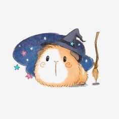 Kawaii Doodles, Cute Doodles, Cute Doodle Art, Cute Art, Kawaii Pig, Guinea Pig Accessories, Easy Animal Drawings, Baby Guinea Pigs, Pig Drawing