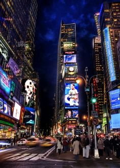 New York Time Square by night.