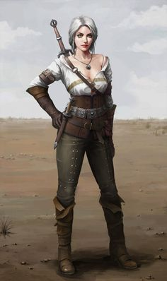 The Witcher 3 Cirael The Witcher Wild Hunt, The Witcher Game, The Witcher Books, Dnd Characters, Fantasy Characters, Female Characters, The Witcher Geralt, Witcher Art, Dark Fantasy Art