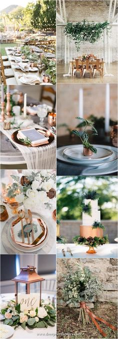 100 + Must Have Gold Color Palettes to Wow Your Guests 100 + Must Have Gold Color Palette to Wow Your Guests---gold copper and greenery, wedding centerpieces, wedding bouquets. Vintage Wedding Colors, Gold Wedding Colors, Winter Wedding Colors, Wedding Color Schemes, Vintage Weddings, Copper Wedding, Rustic Wedding Signs, Wedding Ideas, Wedding Decor