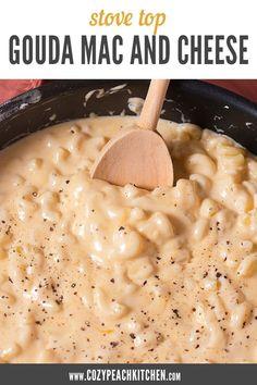 Mac Cheese Recipes, Pasta Recipes, New Recipes, Dinner Recipes, Cooking Recipes, Favorite Recipes, Kitchen Recipes, Stovetop Mac And Cheese, Mac And Cheese Homemade