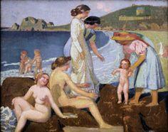 The Athenaeum - Female Bathers at Perros-Guirec (Maurice Denis - ) Maurice Denis, Paris 1900, Art Français, Avant Garde Artists, Photo Libre, Image Painting, Post Impressionism, Impressionist Art, Paris Ville