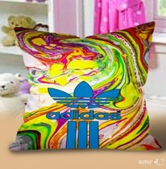 New Hot Adidas Abstrac marble color Logo Pillow Cases