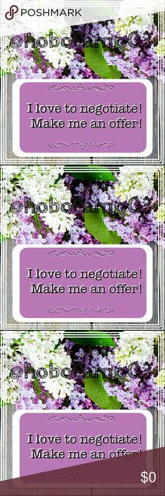 """Please feel free to make an offer! Please feel free to make an offer using the offer button. We can negotiate there. I am very proud of the """"love notes"""" that my buyers have left...check them out. I have been on posh for 3 years and have a 5 star rating. I I have been a suggested user for 3 years and am now a posh ambassador.  If you have any questions or need help just let me know! Other"""