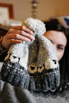Donna Smith Designs: A few Baa-ble hats. I like the shortened rib section on the end