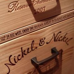 chest made of favorite wine crates