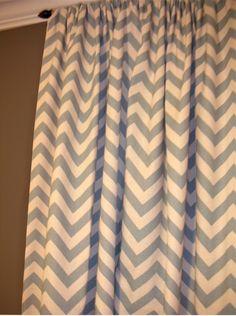 chevron curtains, deciding if to splurge on orange or get gray