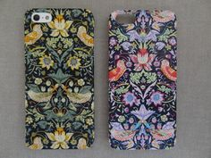 iPhone case made from Liberty Tana Lawn fabric -  Strawberry thief  desighed by William Morris.    Each phone case is handcrafted with high