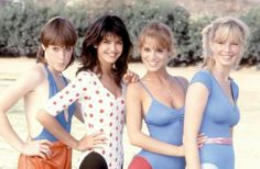 Phoebe Cates, Kathleen Wilhoite, Kari Lizer, and Betsy Russell in Private School Kathleen Wilhoite, Betsy Russell, Private School Girl, Angel Movie, Matthew Modine, Phoebe Cates, Unedited Photos, Teen Movies, Celebrity Bikini