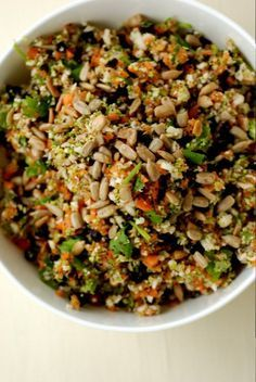 Broccoli, Cauliflower with Lime and Cilantro - recipe calls for dulse or kelp granules, you can skip that if it's not your thing!