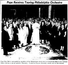 From The Sunday Bulletin - Philadelphia; Sunday, June 29th, 1958, Section 1 Page 2.  Pope Pius XII would die a little over 3 months later, on 9th October.