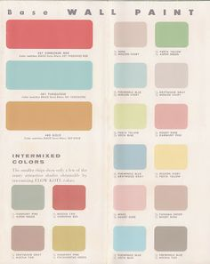 Vintage Decorating - 1950's Paint Color Chip Brochures