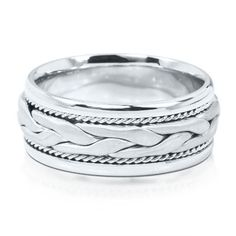 Men's Braided Wedding Ring in 14K Gold, 9mm  available at #HelzbergDiamonds $2300.00