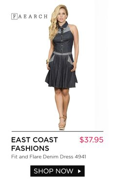 bb8984b6df Dare to do denim in a whole new way! This flirty denim dress will accentuate
