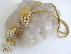 Hobe Necklace Grapes Tassel Lariat Grape Cluster Slide Bolo Style Gold Vintage #Hobe #Lairat