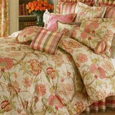 Amelia French Country Jacobean Cotton Cal King Quilt