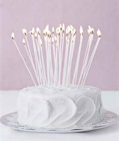 Toasting Special Occasions – A Birthday | By Sarah James | Real Simple | Photo: James Baigrie Pretty Cakes, Beautiful Cakes, Amazing Cakes, Real Simple, White Birthday Cakes, Cake Birthday, Piece Of Cakes, Happy Birthday Me, Happy Brithday