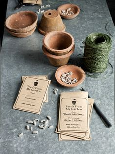 Make your own seed packets