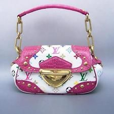 RARE Louis Vuitton LV Multicolore Monogram White x Pink Alligator Marilyn Bag